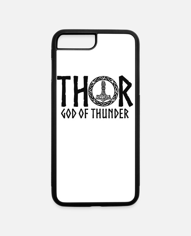 Father's Day iPhone Cases - Nordic Gods Thor God Of Thunder - iPhone 7 & 8 Plus Case white/black