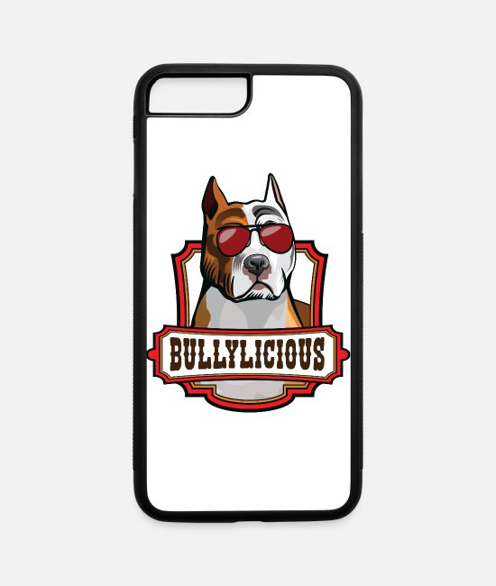 "Proud iPhone Cases - Pitbull Owner ""Bullylicious"" Funny Pitties Tee - iPhone 7 & 8 Plus Case white/black"
