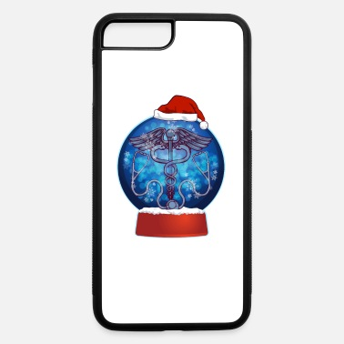 December Christmas Snow Globe Medical Doctor Nurse - iPhone 7 & 8 Plus Case