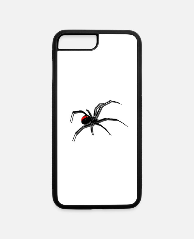 3D iPhone Cases - Spider in 3D - Drop Shadow - iPhone 7 & 8 Plus Case white/black