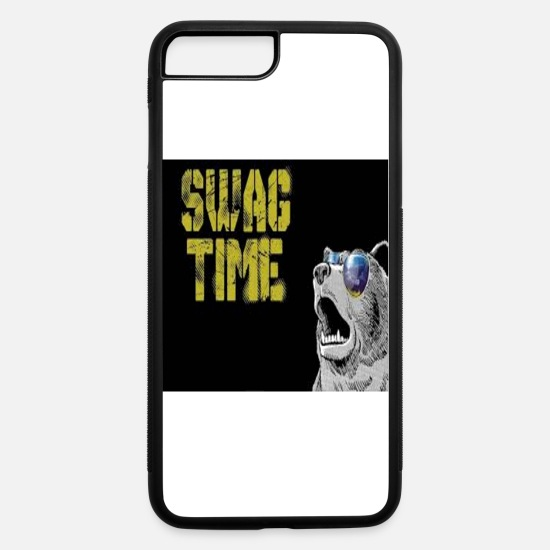 Cool Story iPhone Cases - COOL BEAR SWAG TIME - iPhone 7 & 8 Plus Case white/black