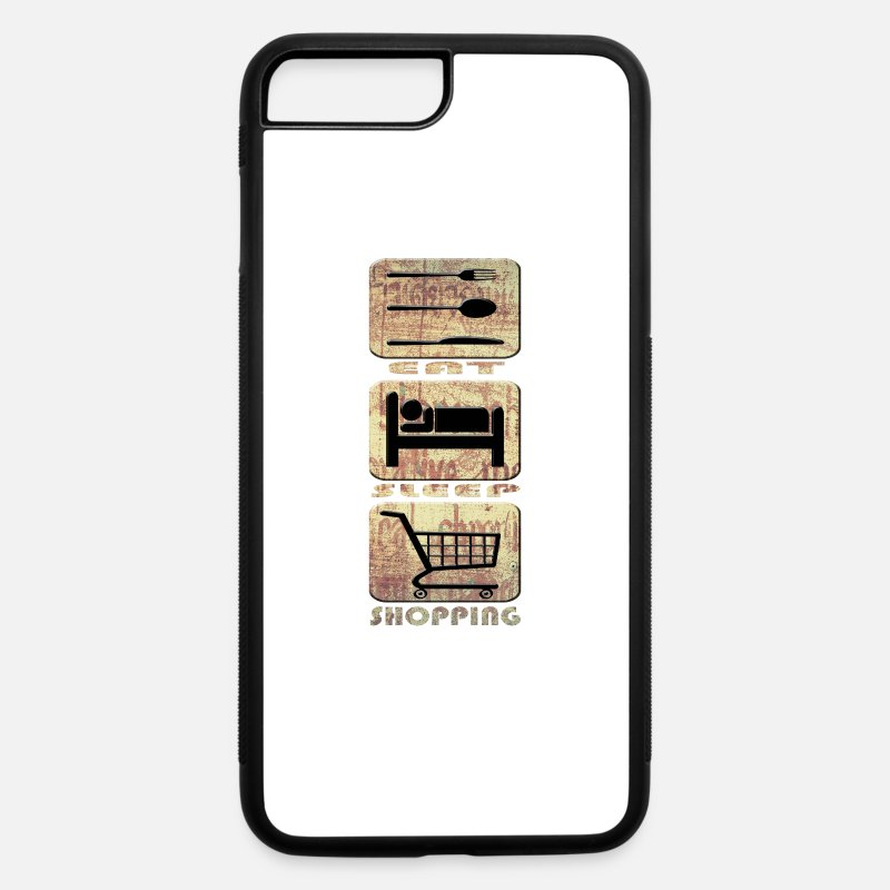 Shopping Frenzy iPhone Cases - Shopping - iPhone 7 & 8 Plus Case white/black