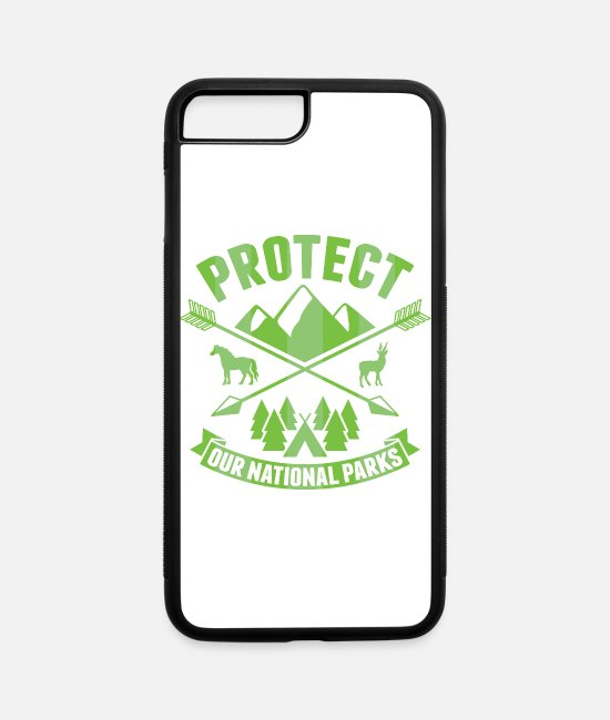 National Park iPhone Cases - National Park Protect our National Parks - iPhone 7 & 8 Plus Case white/black