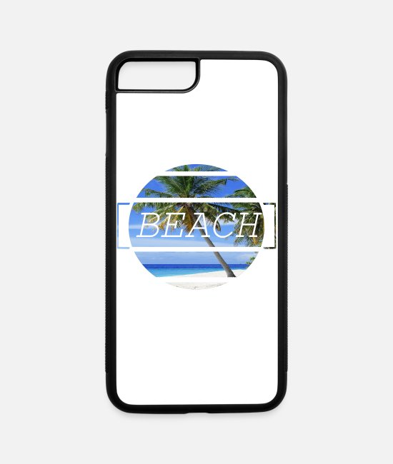 Palm Trees iPhone Cases - Beach - iPhone 7 & 8 Plus Case white/black