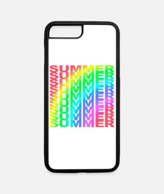 Summer Colors iPhone Cases - Summer Summer Summer Summer Summer Rainbow - iPhone 7 & 8 Plus Case white/black