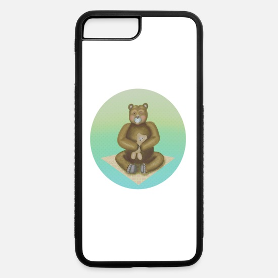 Grizzly iPhone Cases - Teddy - iPhone 7 & 8 Plus Case white/black