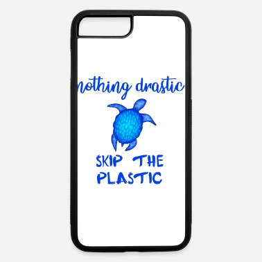 Nothing drastic, skip the plastic. Blue turtle. - iPhone 7 & 8 Plus Case