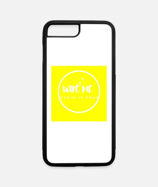 Virus iPhone Cases - Coronavirus reminder - Wipe me phone case - iPhone 7 & 8 Plus Case white/black