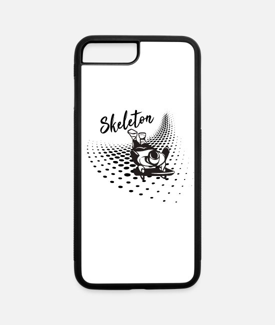 Sport iPhone Cases - Skeleton Winter Sport - iPhone 7 & 8 Plus Case white/black