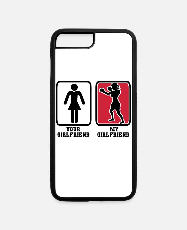 Fighter iPhone Cases - Punching Girlfriend - iPhone 7 & 8 Plus Case white/black