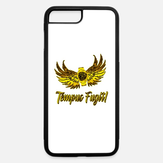 Clock iPhone Cases - Tempus Fugit 2 - iPhone 7 & 8 Plus Case white/black