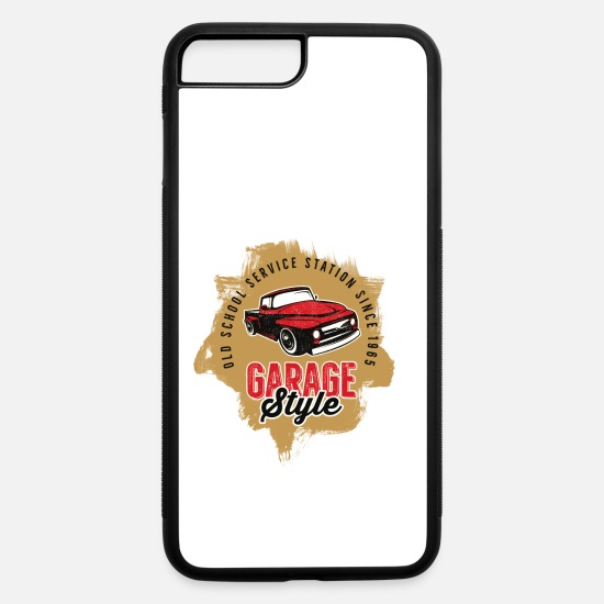 Motor iPhone Cases - Cars - Automobile - Garage Style - Old School - iPhone 7 & 8 Plus Case white/black