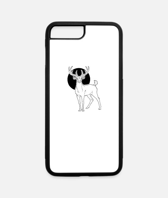 Stag iPhone Cases - 3 Eyed Stag III - iPhone 7 & 8 Plus Case white/black