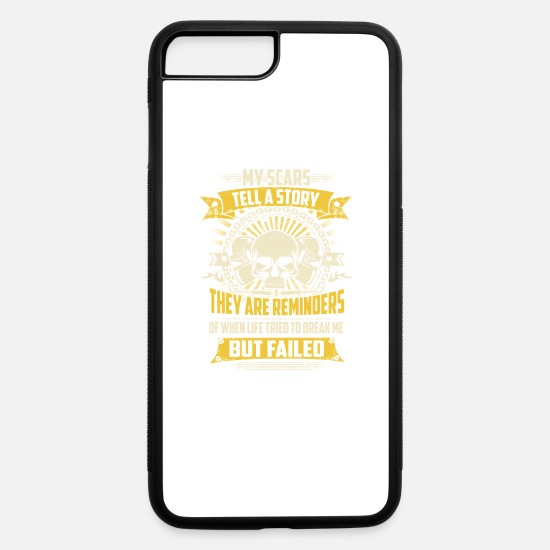 Gas Mig Welder iPhone Cases - My Scars Tell A Story Welder T-Shirts - iPhone 7 & 8 Plus Case white/black