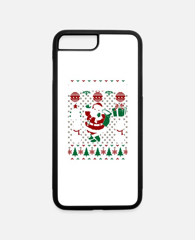 Festival iPhone Cases - Christmas Ugly Sweater South Bend Indiana - iPhone 7 & 8 Plus Case white/black
