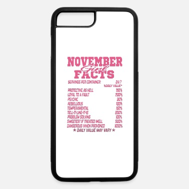 November Born Facts NOVEMBER BORN GIRL FACTS - iPhone 7 & 8 Plus Case