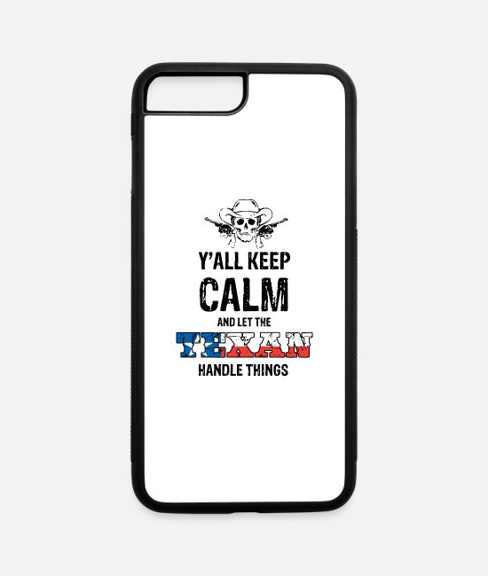 Keep Calm iPhone Cases - Texas - iPhone 7 & 8 Plus Case white/black