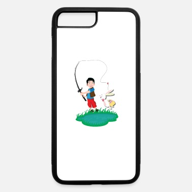 Happy Fisherman Happy easter fisherman with bunny - iPhone 7 & 8 Plus Case