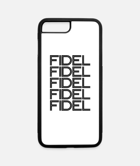 Social iPhone Cases - Fidel Castro - Cuba - Havanna - Communist - iPhone 7 & 8 Plus Case white/black