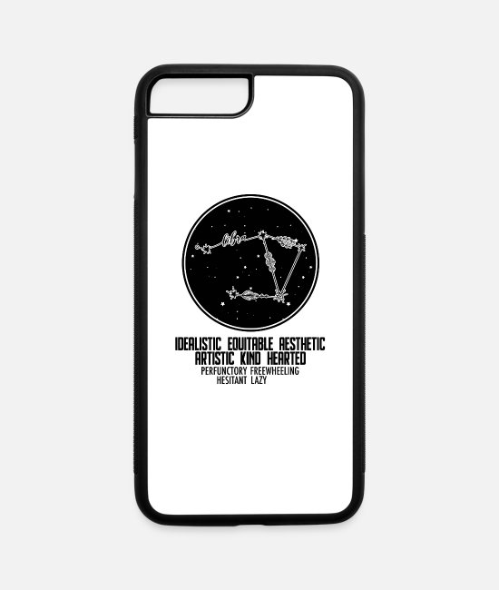 Sign iPhone Cases - Libra Zodiac Sign Astrology - iPhone 7 & 8 Plus Case white/black