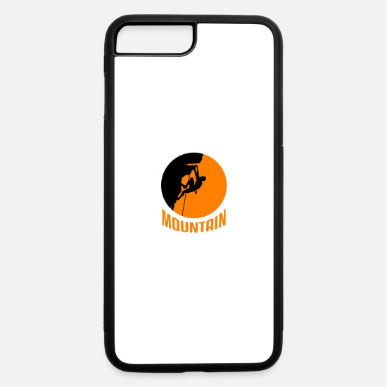 Rock iPhone Cases - Mountain Climbing - iPhone 7 & 8 Plus Case white/black