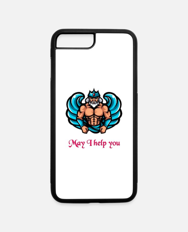 Help iPhone Cases - May I Help You - iPhone 7 & 8 Plus Case white/black