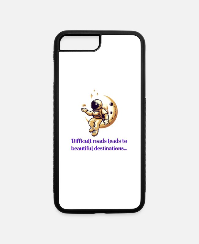 Scince iPhone Cases - Difficult roads leads to beautiful destinations - iPhone 7 & 8 Plus Case white/black