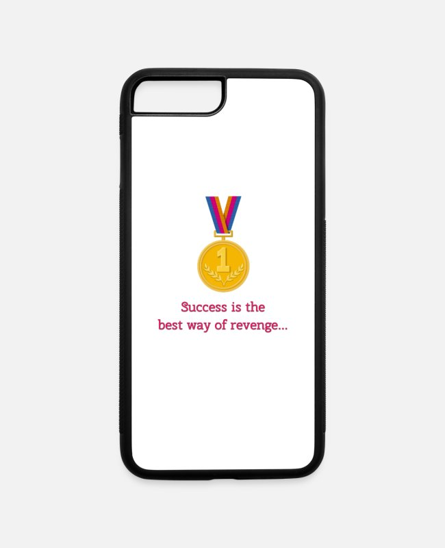 College Style iPhone Cases - Success is thebest way of revenge - iPhone 7 & 8 Plus Case white/black