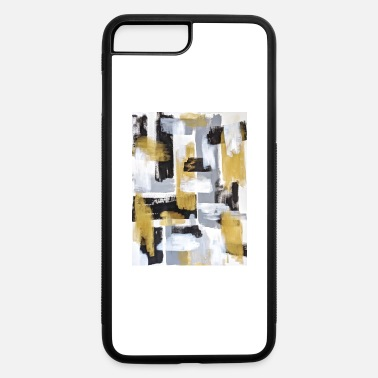 Black White and Gold Abstract - iPhone 7 & 8 Plus Case