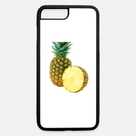 Pineapple iPhone Cases - Pineapple cut-in-half - iPhone 7 & 8 Plus Case white/black