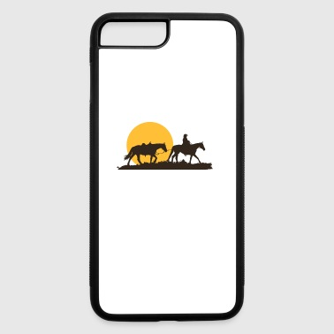 Western Riding Lone Cowboy Rancher Riding Horses Western American - iPhone 7 Plus/8 Plus Rubber Case