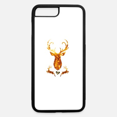 Swagg antler deer christmas xmas glamour gold swagg rich - iPhone 7 & 8 Plus Case