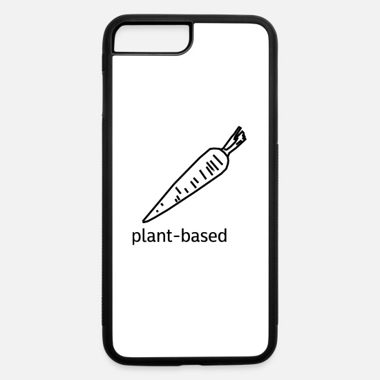 Gift Idea iPhone Cases - Plant-Based Carrot for Vegans - iPhone 7 & 8 Plus Case white/black