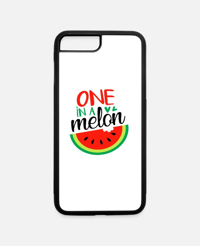 Hipster iPhone Cases - One In A Melon - iPhone 7 & 8 Plus Case white/black