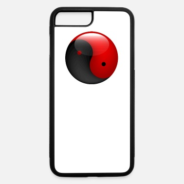 Japan &amp Ying yang red & black - iPhone 7 & 8 Plus Case