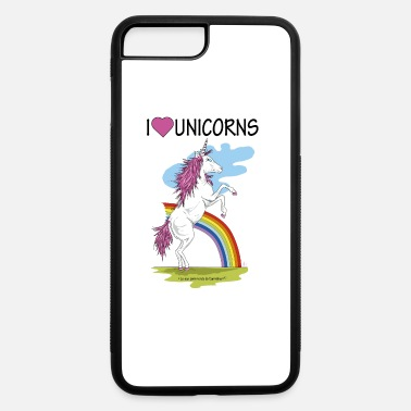 Love Unicorn Bridget I love unicorns - iPhone 7 Plus/8 Plus Rubber Case