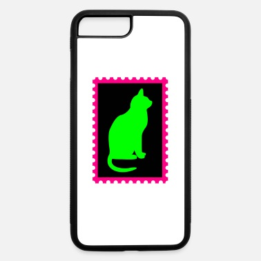 Stamp stamp with a cat - iPhone 7 Plus/8 Plus Rubber Case