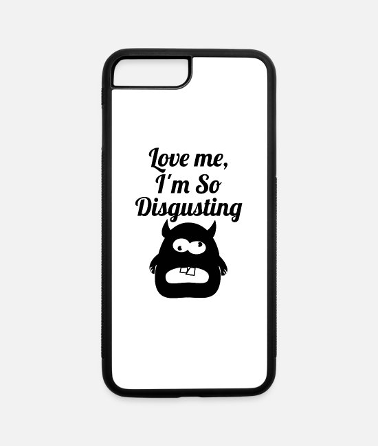 Hipster iPhone Cases - disgusting blak - iPhone 7 & 8 Plus Case white/black