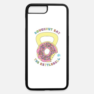Frosted Doughnut Doughnut Eat The KettleBell Outline - iPhone 7 & 8 Plus Case
