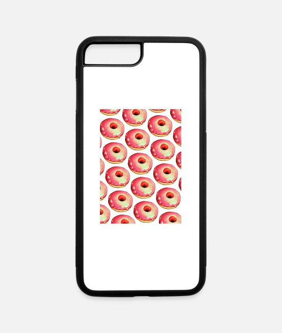 Donut iPhone Cases - food doughnut - iPhone 7 & 8 Plus Case white/black