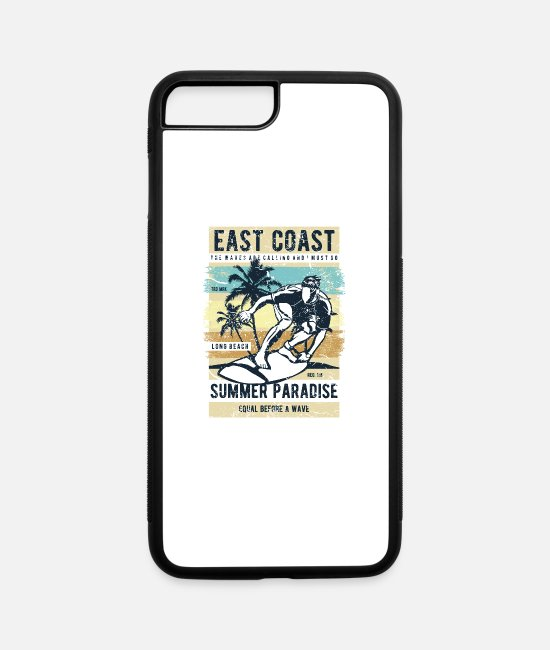 Side iPhone Cases - East Coast - iPhone 7 & 8 Plus Case white/black