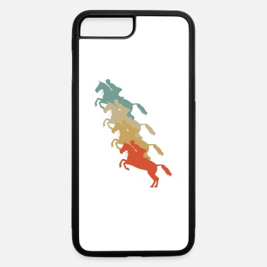 Equitation Retro Vintage Style Harness Racing Equitation - iPhone 7 Plus/8 Plus Rubber Case