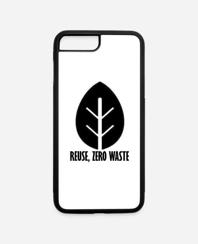 Eco iPhone Cases - Zero waste 1 - iPhone 7 & 8 Plus Case white/black