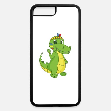 American Indian American Indian crocodile - iPhone 7 Plus/8 Plus Rubber Case