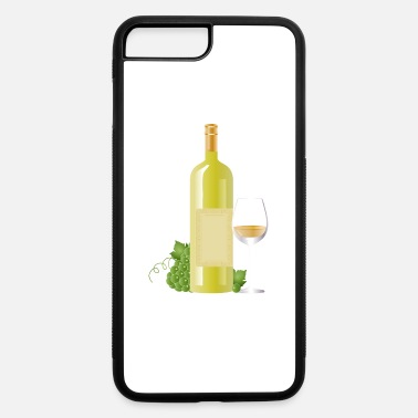 White Wine White wine bottle with grapes and white wine glass - iPhone 7 & 8 Plus Case