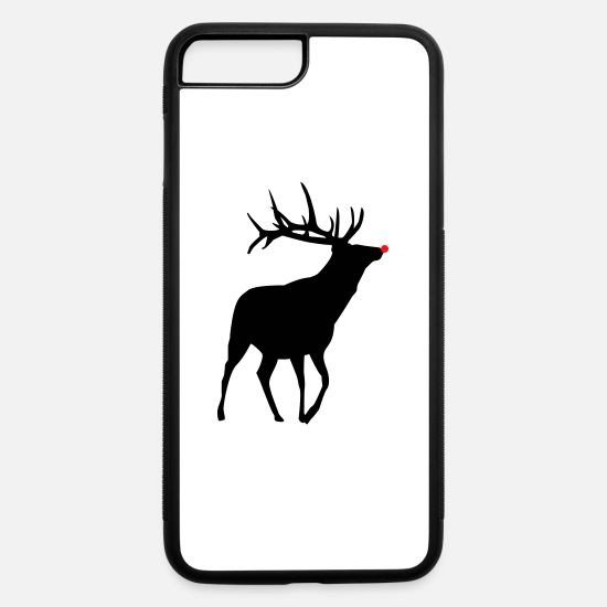 Rudolf iPhone Cases - Red Nose Rendeer - iPhone 7 & 8 Plus Case white/black