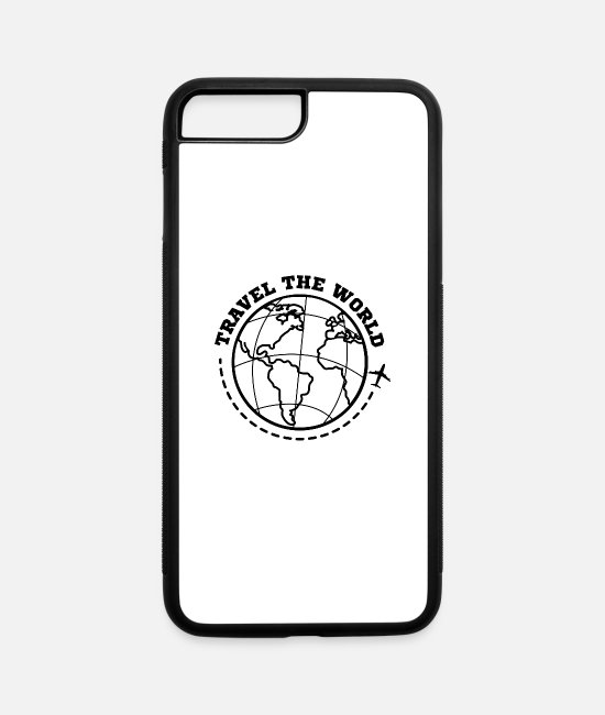 Wanderlust iPhone Cases - World Travel Travel - iPhone 7 & 8 Plus Case white/black