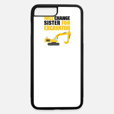 Construction Vehicles excavator digger construction vehicle boy birthday - iPhone 7 & 8 Plus Case