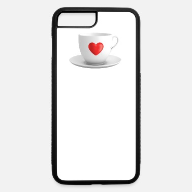 Saucer cup with heart and saucer - iPhone 7 & 8 Plus Case