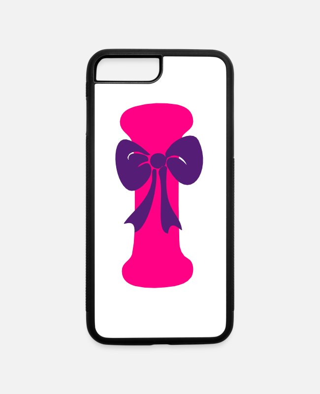 Hepatitis B-liver Cancer-HBV-Breast Cancer iPhone Cases - ❤✔Alphabet I with a Purple Ribbon✔❤ - iPhone 7 & 8 Plus Case white/black